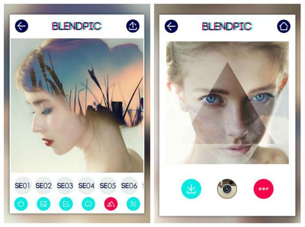 Apps para retocar fotos Blendpic