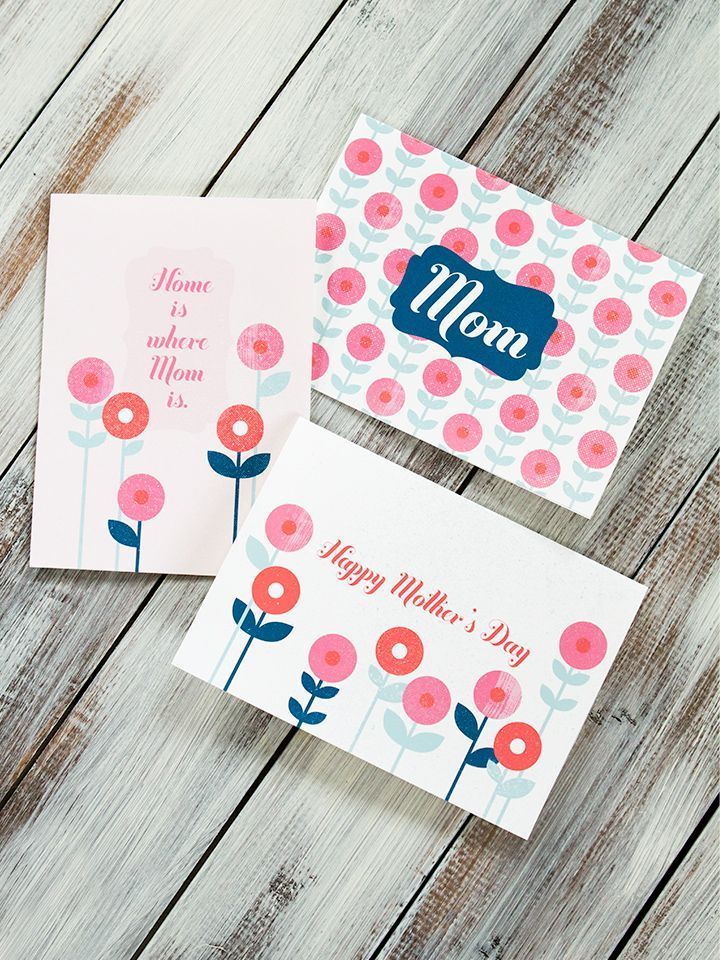 Beautiful Mother's Day Cards That You Can Print at Home