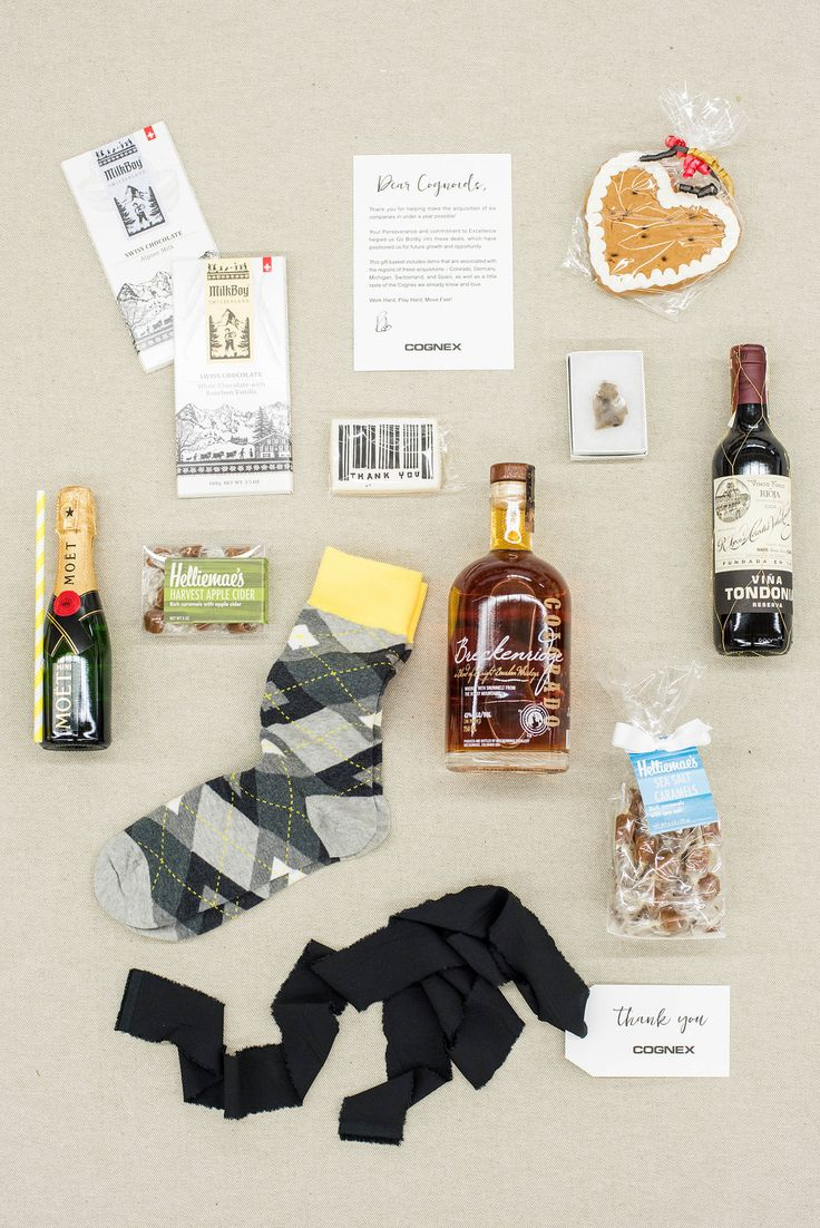 Treats inside a custom Corporate Curated Gift Box by Marigold & Grey.  Image: Li...