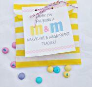 M&M Free Printable Teacher Gift Idea by U Create