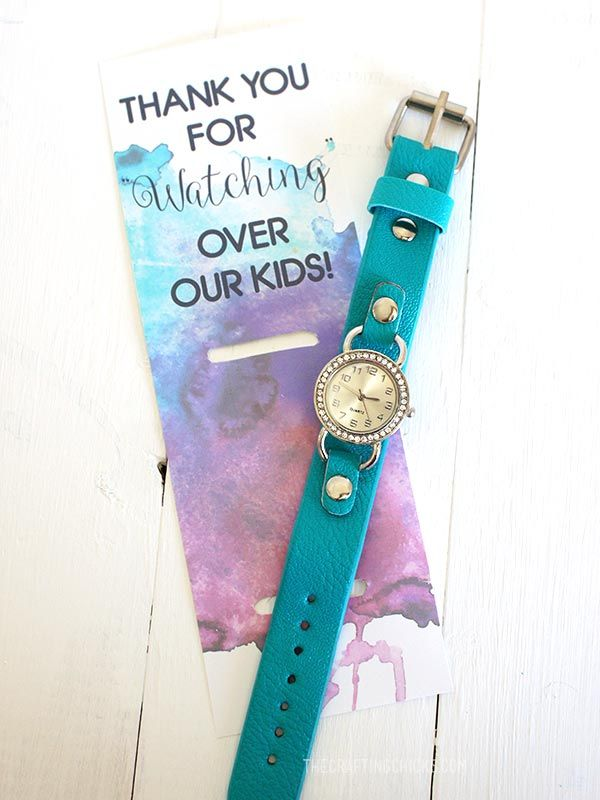 Thank you for watching over our kids- teacher appreciation gift idea #gift #teac...