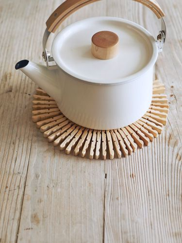 Does mom love tea? Whip up a Scandinavian-style table protector from–get this...