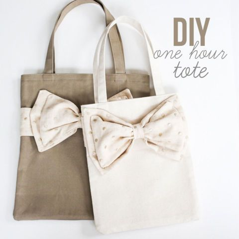 Even a novice seamstress can craft these adorable duck-cloth totes that only tak...