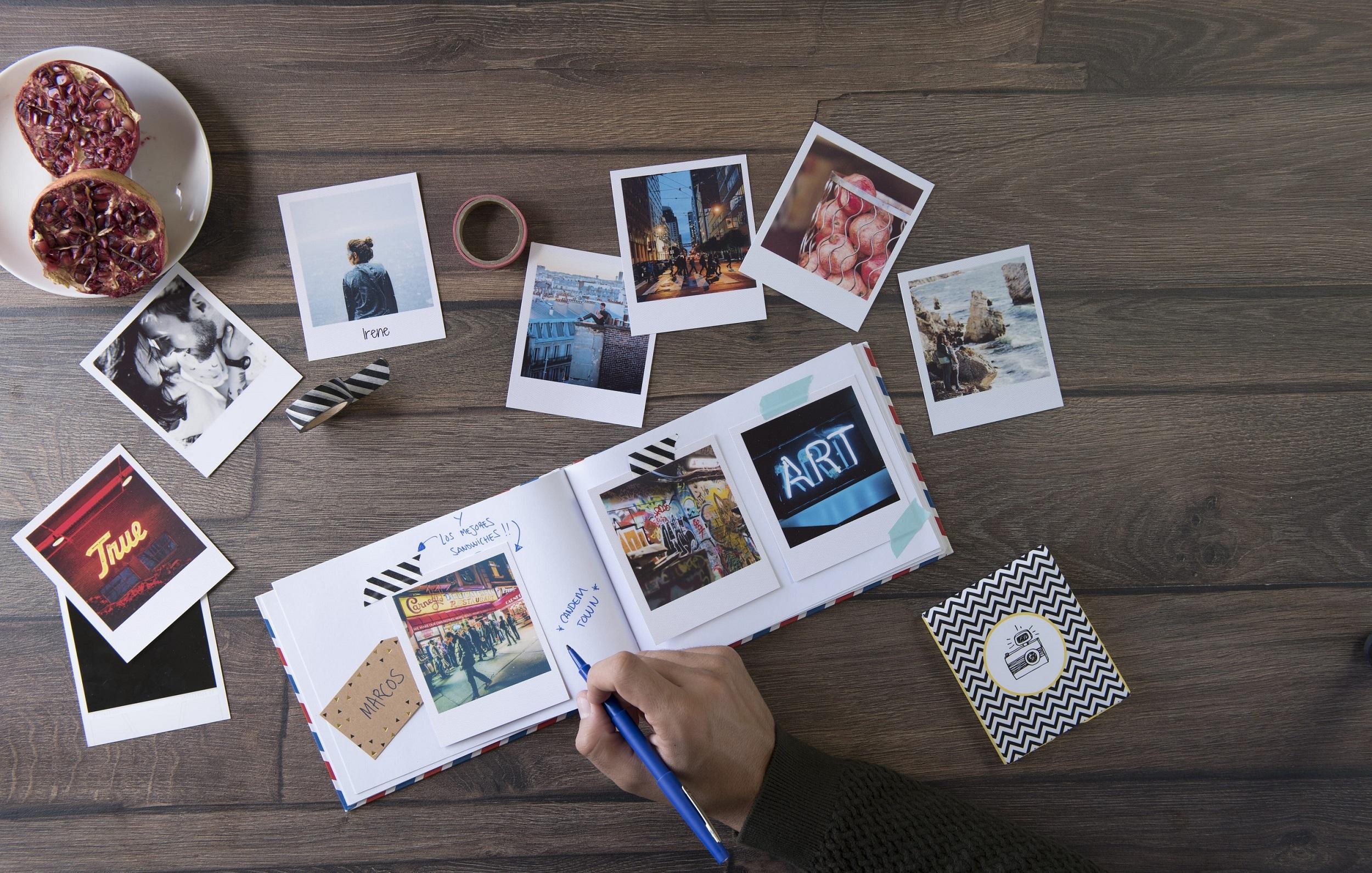 album con fotos recortadas