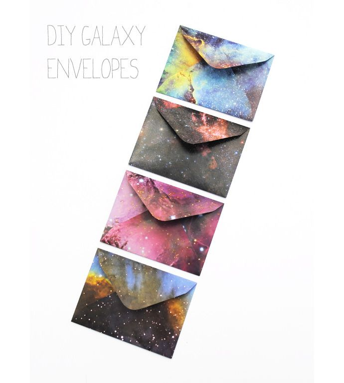 DIY Galaxy Envelopes via Mini Eco