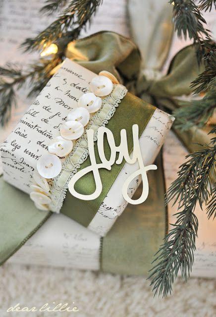 Beautiful gift wrap inspiration!