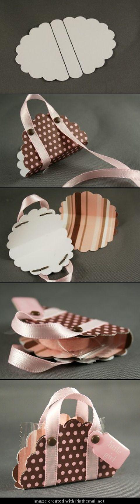Nichole Heady's beautiful and easy idea using a scalloped punch. see: nicholehea...