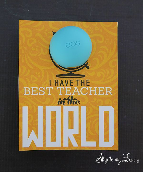 Back to school teacher gift idea: free printable tag