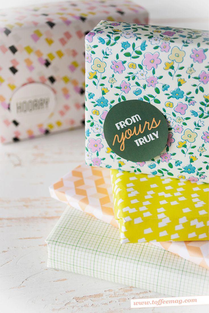Toffee magazine printable wrap