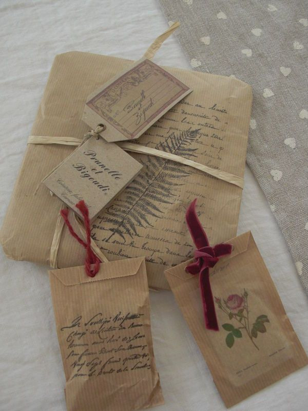 gorgeous brown paper wrapping