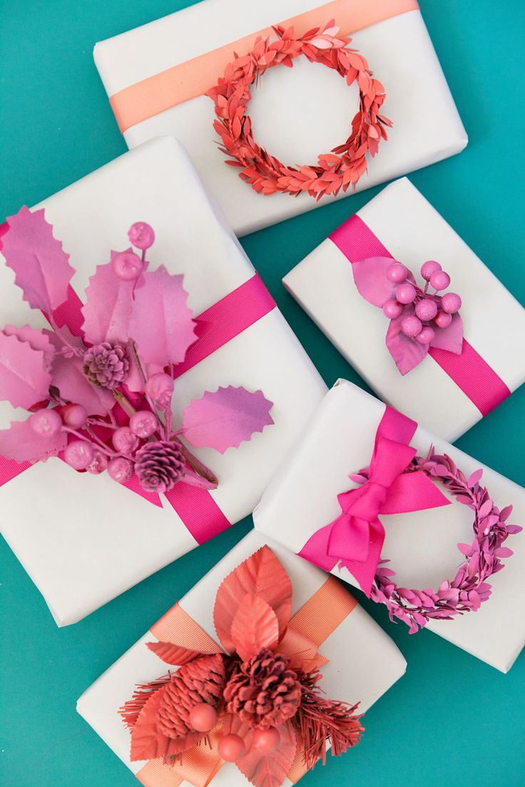 DIY Monochromatic Gift Toppers