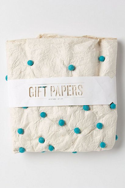 pompom wrapping paper