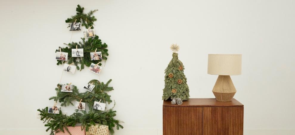 christmas tree with photos