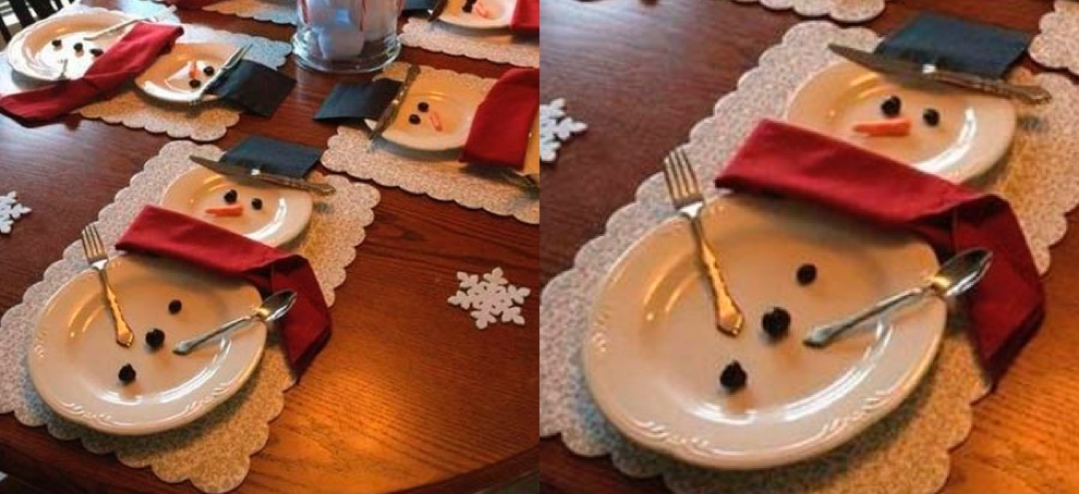 personalized christmas table