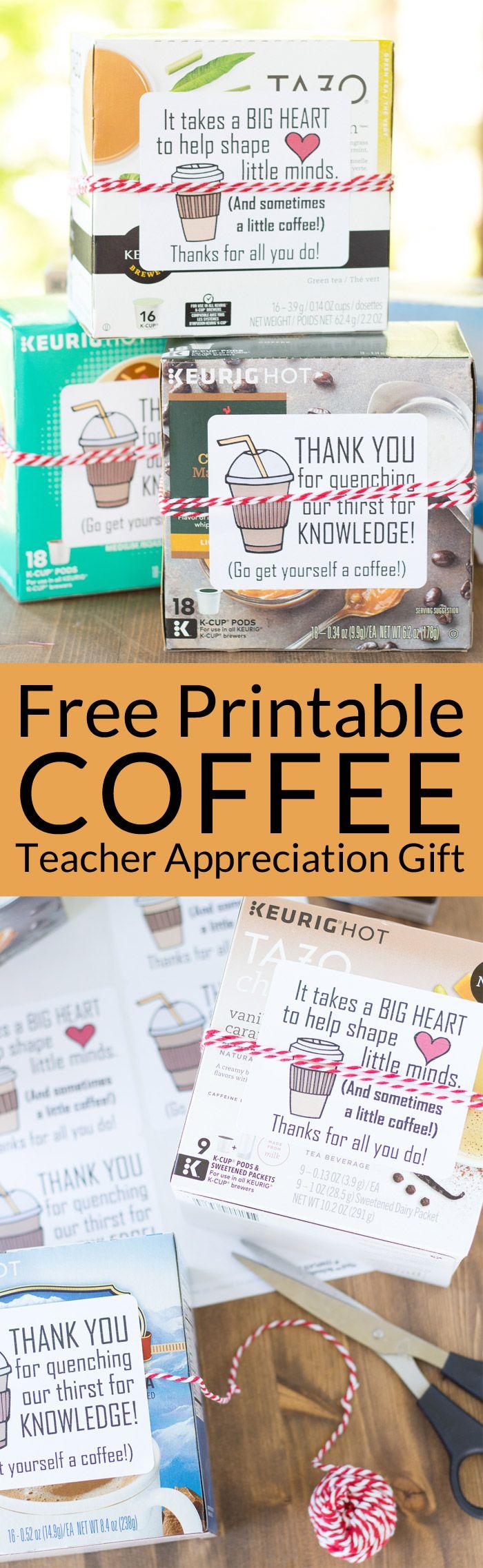 5 Minute Coffee Teacher Appreciation Gift